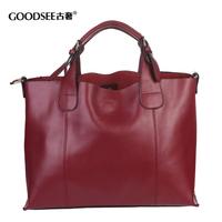 Women's handbag 2014 women's genuine leather handbag fashion brief cowhide portable one shoulder cross-body bags Free shipping