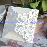2014 wedding decoration!170pcs/lot cream lace laser cut wedding invitation card paper in china manufacturer wedding favors