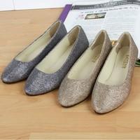 Fashion women flat shoes 2014 spring winter simple rhinestone slip-on mocassim feminino canvas shoes for women free shipping
