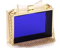 Women handbag Famous Acrylic brand designer Ladies evening bag High quality B59Day Clutches 2014 New arrival