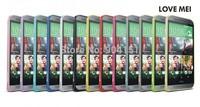 100% Original LOVE MEI Hippocampal Buckle Aluminum Metal Bumper Case Frame for HTC One M8 10pcs/lot