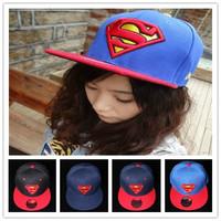 Classic high quality superman super man hat male women's hiphop baseball cap