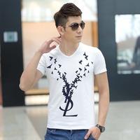 2014 new casual men  t-shirt short sleeve cotton mens t shirt plus size M-6XL free shipping ZGQT83