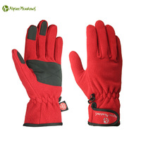 Alpine meadows lovers design thickening windproof hiking traveler thermal fleece gloves Free shipping!