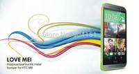 100% Original LOVE MEI Hippocampal Buckle Aluminum Metal Bumper Case Frame for HTC One M8 50pcs/lot