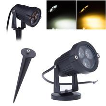 Envío gratis! 9w punto de luz led impermeable ip65 led proyector led iluminación del paisaje 3*3w ca/dc12v 2pcs/lot(China (Mainland))