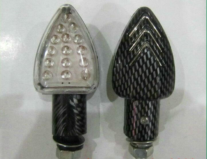 2XClignotants MOTO 15LED Indicateurs FZ1 FZ6 BANDIT HORNET SV Z750 Z1000 Ambre(China (Mainland))
