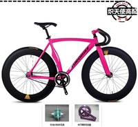 Complete Fixed Gear Bike, Fashion Red  Aluminium alloy Frame( 52cm) with 4 Style  Wheel (700X23C) Avialable,Can Ride Forwards