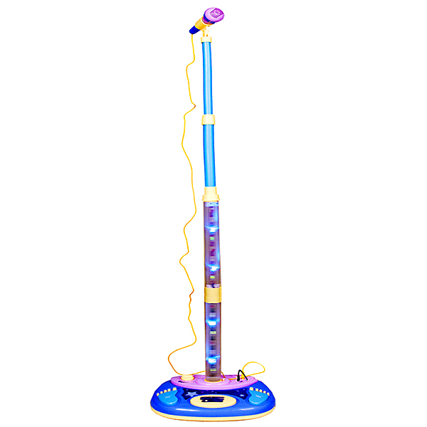Electronic Stage Karaoke Music Microphone Toy Set for Kids Children Can Connect Mp3 Player with Audio Cable(China (Mainland))