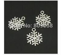 Wholesale 100PCS Tibetan Silver Christmas Snowflak Charm Pendant Jewelry Findings 15x20mm Fit Fashion Jewelry DIY Making