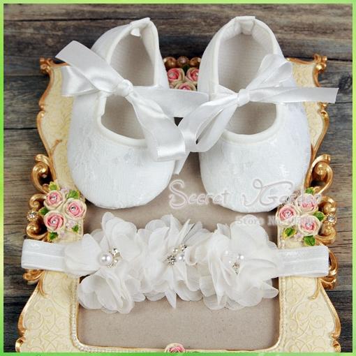 Secret Garden # 2S1931 3 set / lote do bebê flores decoração de festa de batismo strass / headband pérola e Ballerina Sapatinho Shoes definido(China (Mainland))