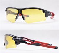2PCS\LOT 3128R-BLACK+RED Unisex Fashion Sport Cycling Glasses Fashion Driving Mirror sunglasses Free Shipping