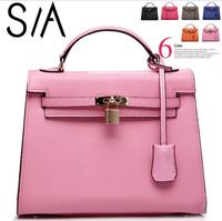 2014 New Genuine Leather Handbag Designer Brand Women's Shoulder Bag Women's Bags High quality Bags  Woman Handbag