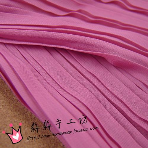 DIY textile fabric Peach organ plait 120 summer new pleated skirt pleated 120 d chiffon fabric(China (Mainland))