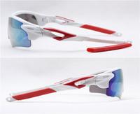 2PCS\LOT 3127R-WHITE Unisex Fashion Sport Cycling Glasses Fashion Driving Mirror sunglasses Free Shipping