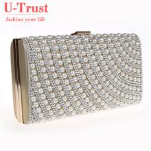 garanzia di qualità delle donne ricamati di perle sera in rilievo diamante della frizione della borsa imitazione borsa a tracolla 10 colori(China (Mainland))