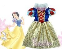 New 2014 Children Girls Print Cosplay Dress Snow White Princess Dress Costume Perform Clothes,Party Dresses,vestidos de menina