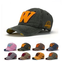 Quality Cotton Baseball Cap Adjustable Spring 2014 Brand New Mens Hat letter W unisex Women Snapback Casual Caps