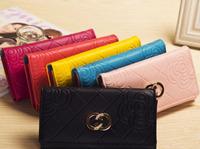 New 2014 women wallets famous designer Brand Wallet Hasp high Capacity Purse women clutch phone bag card holder handbags