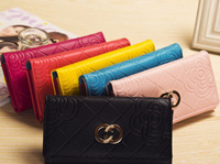 New 2014 women wallets famous designer Brand Wallet Hasp high Capacity Purse women clutch phone bag card holder handbags