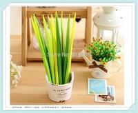 50pcs/1lot Grass-blade pen leaf Neutral pen creative cute novelty Korean stationery free shipping
