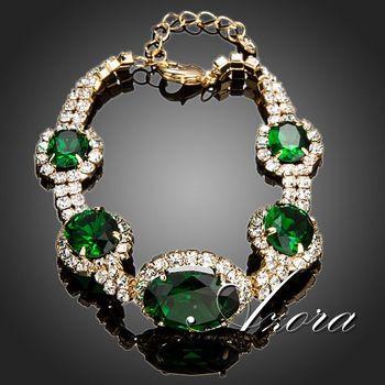 Азора известный бренд овальным вырезом швейцарский CZ камень роскошные браслеты TS0054