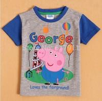 wholesale lot George New 2014 Summer Brand children's T-shirts boys short sleeve t-shirts kids t-shirts Peppa Pig baby clothing