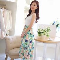 2014 summer  medium-long tank dress