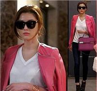 New Arrival Brand Super Star Popular Genuine Real Sheepskin Leather Jacket Women Leather Coat Shinny Zipper HIgh Fashion FP246