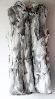 New Dhl/Ems Free Shipping Women Winter real rex rabbit fur vest with hooded slim rex rabbit fur coat fur x Long jacket FP248