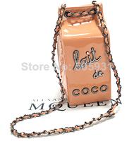 Crystal Milk Bag Shoulder Chain PU C Design Hot Selling