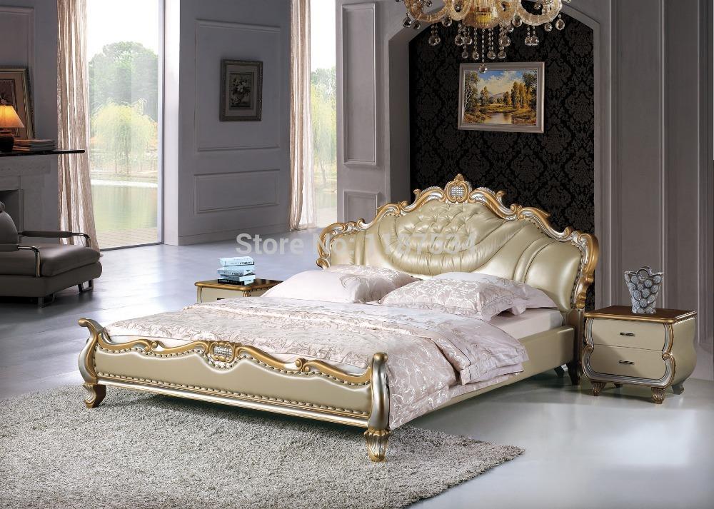 Online kopen wholesale kingsize bed leder uit china kingsize bed leder groothandel - Modern bed volwassen ...