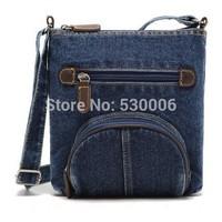 New Women Men Vintage Blue Jeans Shoulder Bag ,Girls Poket Design Small Casual Cross-Body Messenger Bags