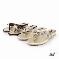 NEW ARRIVAL best quality brand women flat metal lock&key decoration plaid pattern casual flip flops hot sale designer slippers