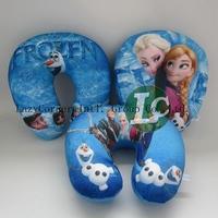 5pcs/lot 2014 Kid Children's Frozen Pillows /Snow Queen Elsa Anna Olaf U-shape Pillows / baby Neck nap Pillow(3 styles)