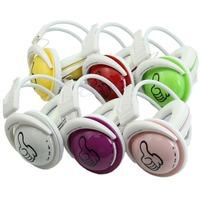 Free Shipping Wireless Folding Sport Thumb Headset Earphone FM Stereo Radio TF Card Headphones