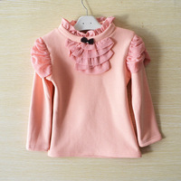 wholesale 5pcs/lot gril's clothing ,long sleeve princess baby gril t-shirt ,spring autumn kid undershirt