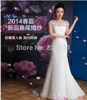 Luxury Satin Wedding dress,mermaid dress, princess style,floor length,bridal dress