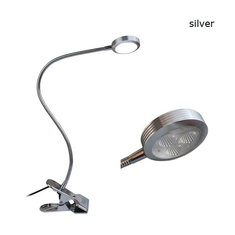 bright clip on desk table lamp led clip light office home use desk. Black Bedroom Furniture Sets. Home Design Ideas