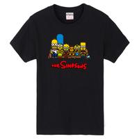 free shipping / S-XXL the simpsons homer 2014 summer printed cotton men T-shirt oversize causal shirt the sports shirt
