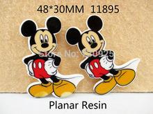 5Y11895 freeshipping 48*30mm mickey flat back resins cartoon planar resin diy holiday decoration accessories mini order$ 6.00(China (Mainland))
