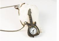 Guangzhou factory guitar necklace watch pocket watch necklace wholesale necklace wholesale table