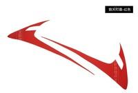Carbon fiber headlights light lamp eyebrow decoration fit for Mazda cx-5 auto accessories 2pcs per set