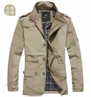 Genuine Men's jacket casual jacket jackets Spring fashion male models young casual shirt collar thin outer clothes