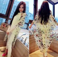 2014 New Fashion Trend Popular Hot-selling Popular Women's Clothing Summer Butterfly Chiffon Sunscreen Coat Dovetail Long Shirt