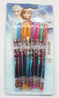 """wholesale School 5 Box 40 pcs 8colors """"metallic glitter + fruit scent """" ink Frozen blink pen pencil ballpoint pens"""