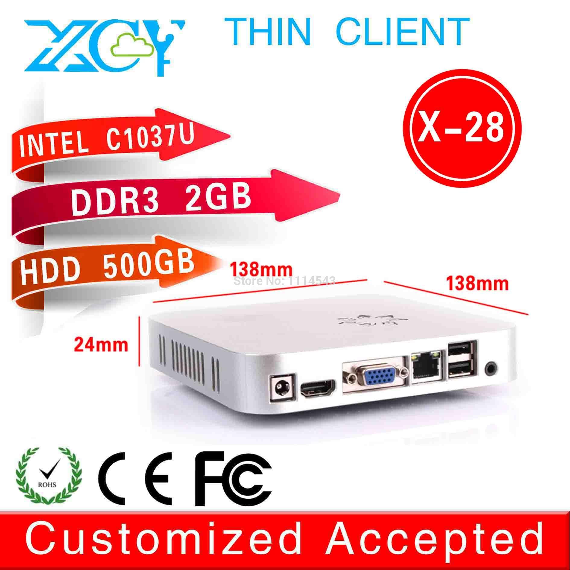pc desktop mini server pc mini pc itx x-28 c1037u 2g ram 500g hdd support win 7 XP system High Performance(China (Mainland))