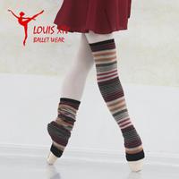 Louis xiv ballet dance rabbit wool thermal ankle sock leg cover 8 stripe
