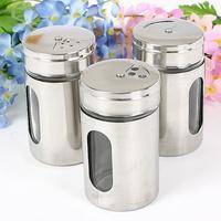 Stainless steel condiment bottles seasoning bottle spice jar seasoning box sauce pot seasoning box kitchen supplies