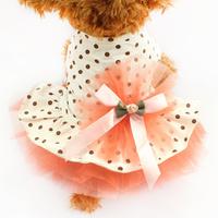 Armi store Pet Super Cute Fluffy Dot Princess Gauze Skirt 71001 Spring And Summer Dog Clothes